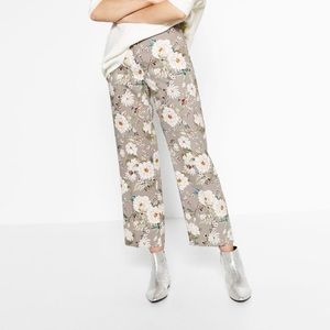 Zara Floral Crop Pants